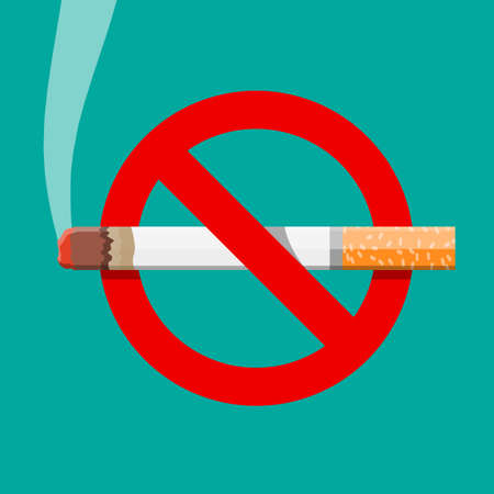 No smoking concept vector illustration Ilustracja
