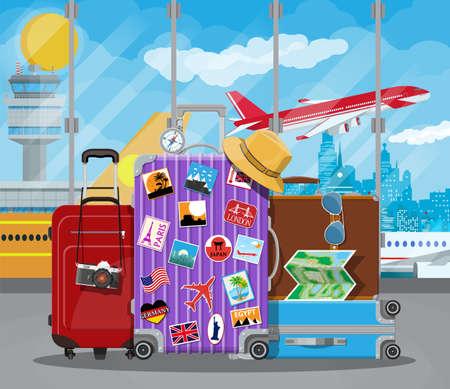 국제 공항 개념.