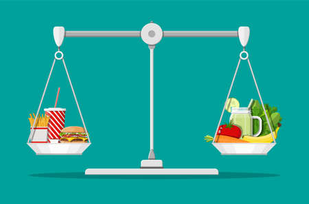 Greasy cholesterol vs. vitamins food