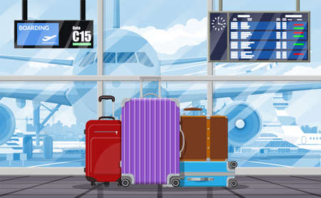 Internationaal luchthavenconcept.