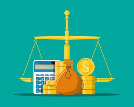 Money balance concept. Illustration