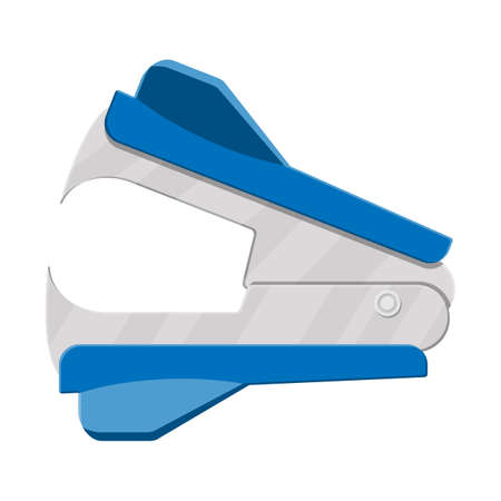 Anti stapler icon on white background. Office and school equipment, stationery. Vector illustration in flat style