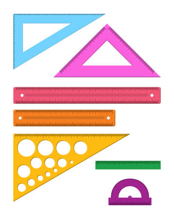 Plastic measuring rulers set.