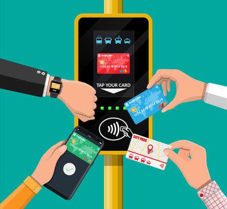 Validador de billetes de aeropuerto, metro, autobús, metro.