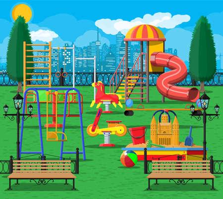 Kinderspielplatz Kindergarten Panorama