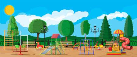 Kinderspeelplaats kleuterschool panorama