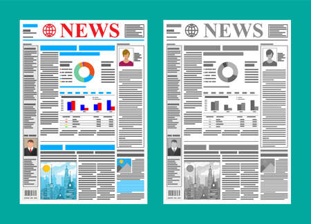 Daily newspaper in color and black and white.