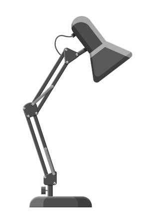 Table lamp icon. Modern computer desk lamp. Stock Photo