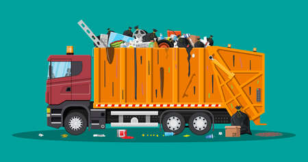 Truck for assembling and transportation garbage.