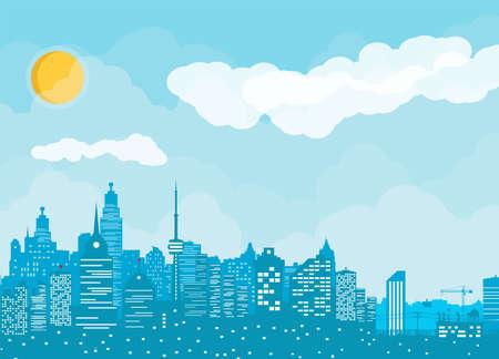 City skyline silhouette. Stock Vector - 115978235
