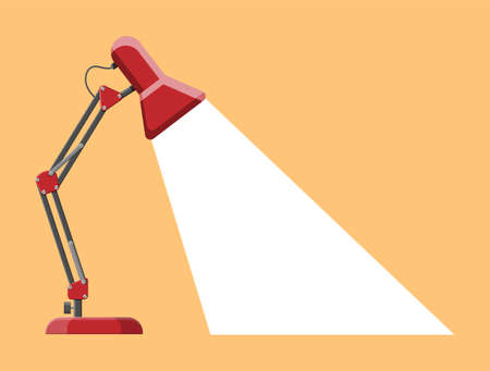 Table lamp icon. Modern computer desk lamp. Vector illustration in flat style
