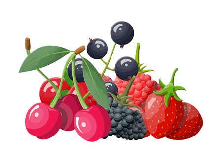 Berry icon set. Illustration