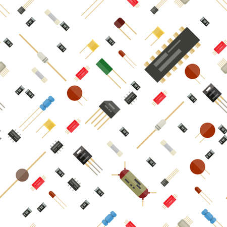 Seamless electronic components pattern.