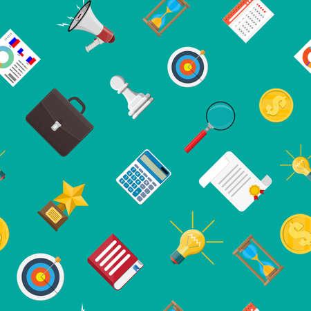 Seamless pattern. Digital marketing, social media Illustration