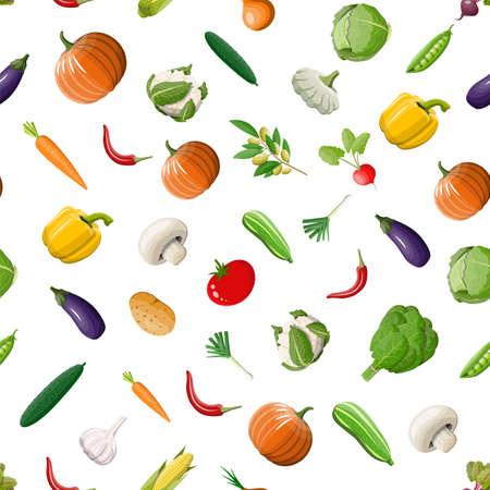 Vegetable seamless pattern.