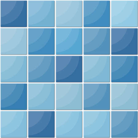 Blue ceramic tiles seamless pattern. Çizim