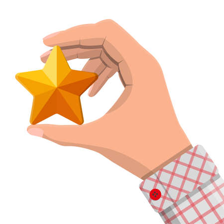 Star shape ornament in hand