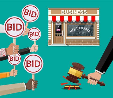 Selling or buying business on auction