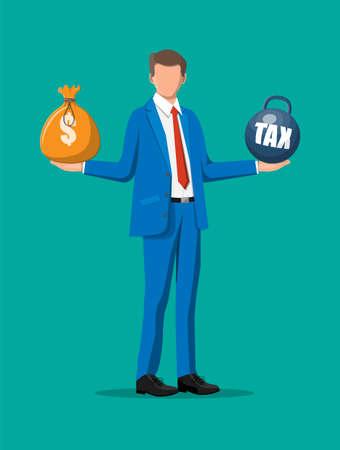 Tax burden concept.