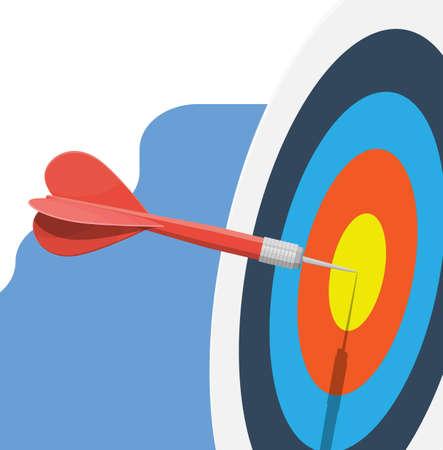 Cible avec flèche au centre. Fixation d'objectifs.