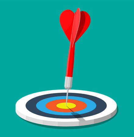Target with arrow in center. Goal setting.