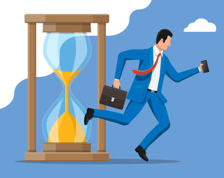 Businessman and hourglass Illustration