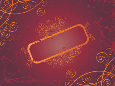 Vector image of banner with swirls. Vector