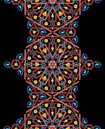 patron islamico: Vector floral de fondo sin fisuras Vectores