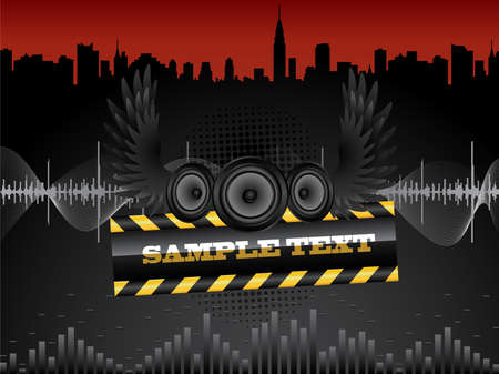 Vector abstract grunge background with audio speakers. Stock Vector - 4903206