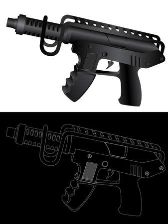 tommy: Vector isolated image of guns. Illustration