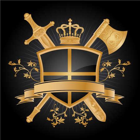 Vector heraldic pattern.