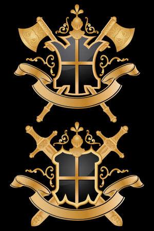buckler: Vector heraldic pattern.