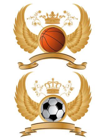 ベアリング: ベクトル紋章スポーツ パターン。