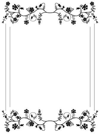 Vector floral frame. Vector