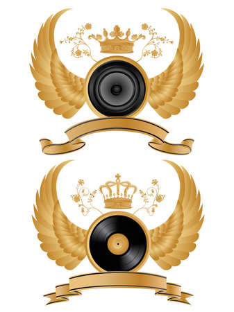 Vector heraldic music pattern. Vector