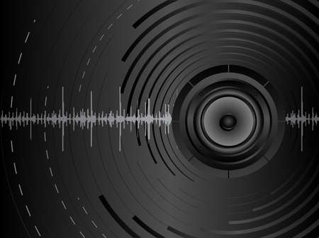 Vector abstract music background with audio speakers. Vector