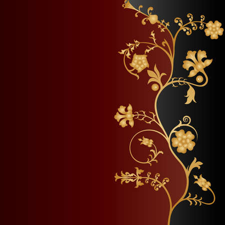 Vector floral background. Vector