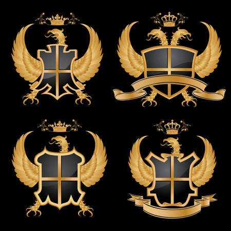 buckler: Vector coat of arms. Illustration