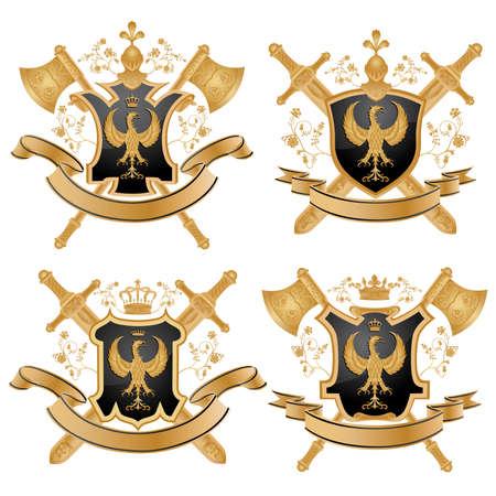 coat: Vector coat of arms. Illustration