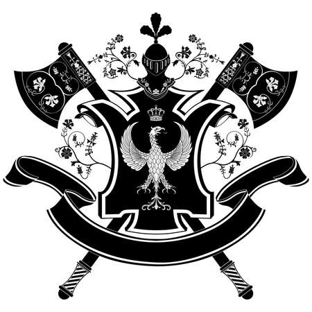 buckler: Vector coat of arms Illustration