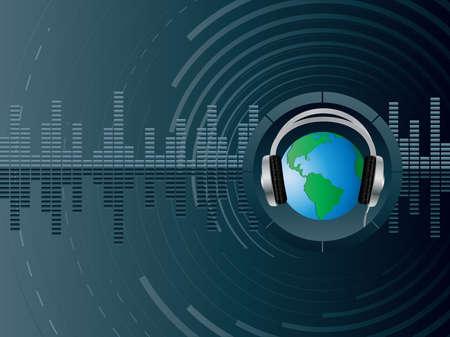 earbud: Vector de fondo abstracto con la tierra.