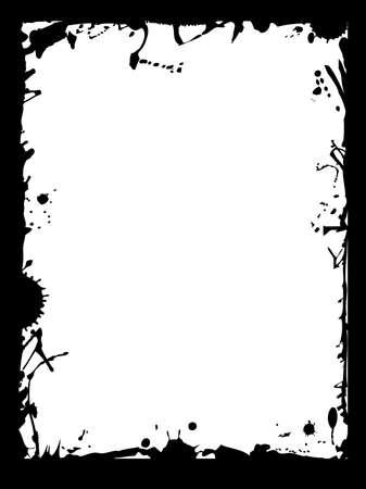 Grunge frame Vector per il testo.