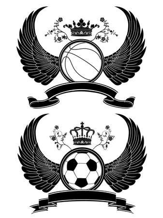 Vector heraldic sport pattern. Vector