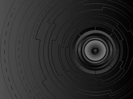 Vector futuristic music background Vector