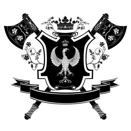 Vector coat of arms Vector