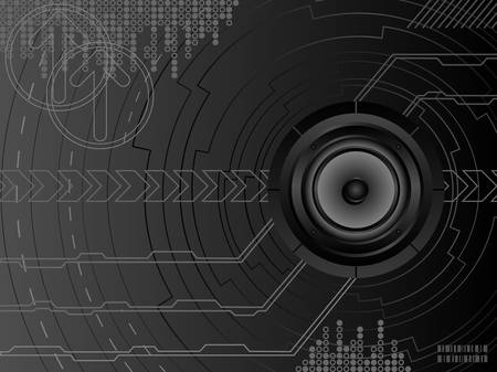 Futuristic music background. Vector. Vector