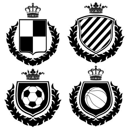 white coat: Vector coat of arms. Illustration
