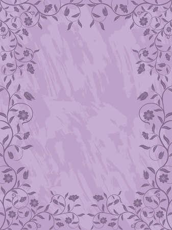 Grunge floral frame.  Vector. Vector