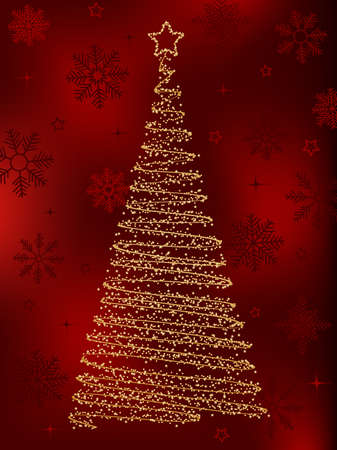 Decorative christmas fir tree.  Vector