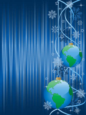 Christmas background with a holiday baubles. Vector illustration. Vector